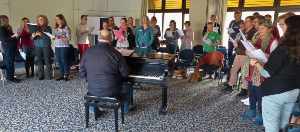 Klangfelder bei der Chorprobe